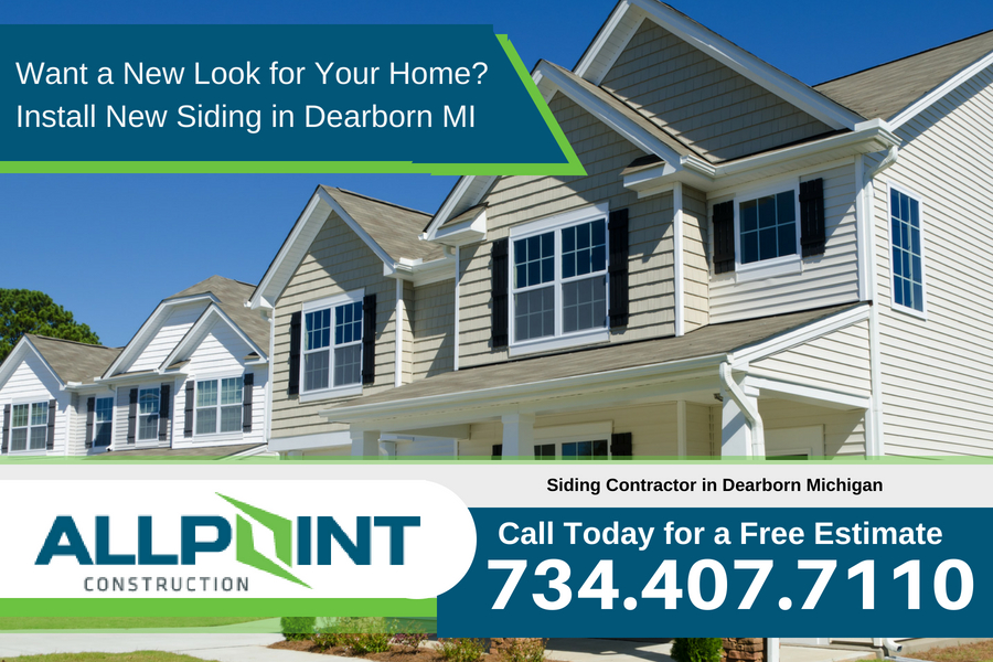 Want a New Look for Your Home? Install New Siding in Dearborn Michigan