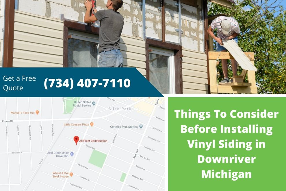 Things To Consider Before Installing Vinyl Siding in Downriver Michigan